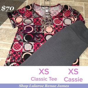 Lularoe NWT XS Classic T and XS Cassie